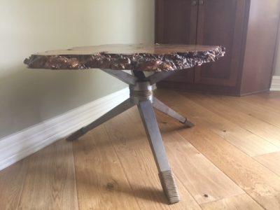Custom Metal Leg Table