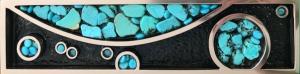Turquoise and Bronze Door Handle